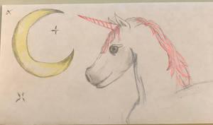 30everyday Unicorn on an envelope