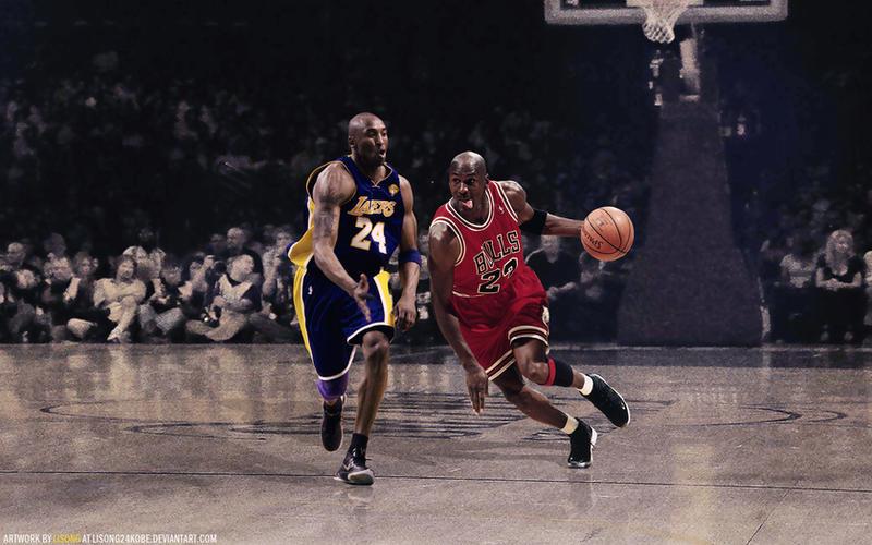 Kobe Bryant Vs Michael Jordan Wallpaper By Lisong24kobe