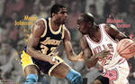 Magic Johnson vs Michael Jordan Wallpaper