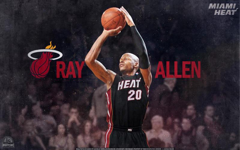 Ray Allen Miami Heat Wallpaper by lisong24kobe on DeviantArt Ray Allen Heat