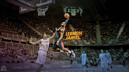 LeBron James 2012 London Olympics Wallpaper by lisong24kobe
