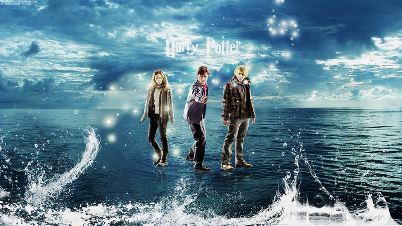 Harry Potter Golden Trio Wallpaper by lisong24kobe