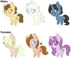 Pony Adoptables #1 (5/6 open)