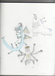 draco, chip, and plasmorph by burgessa