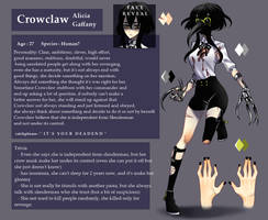 Creepypasta OC - Crowclaw Character ref. by ChronossHouse