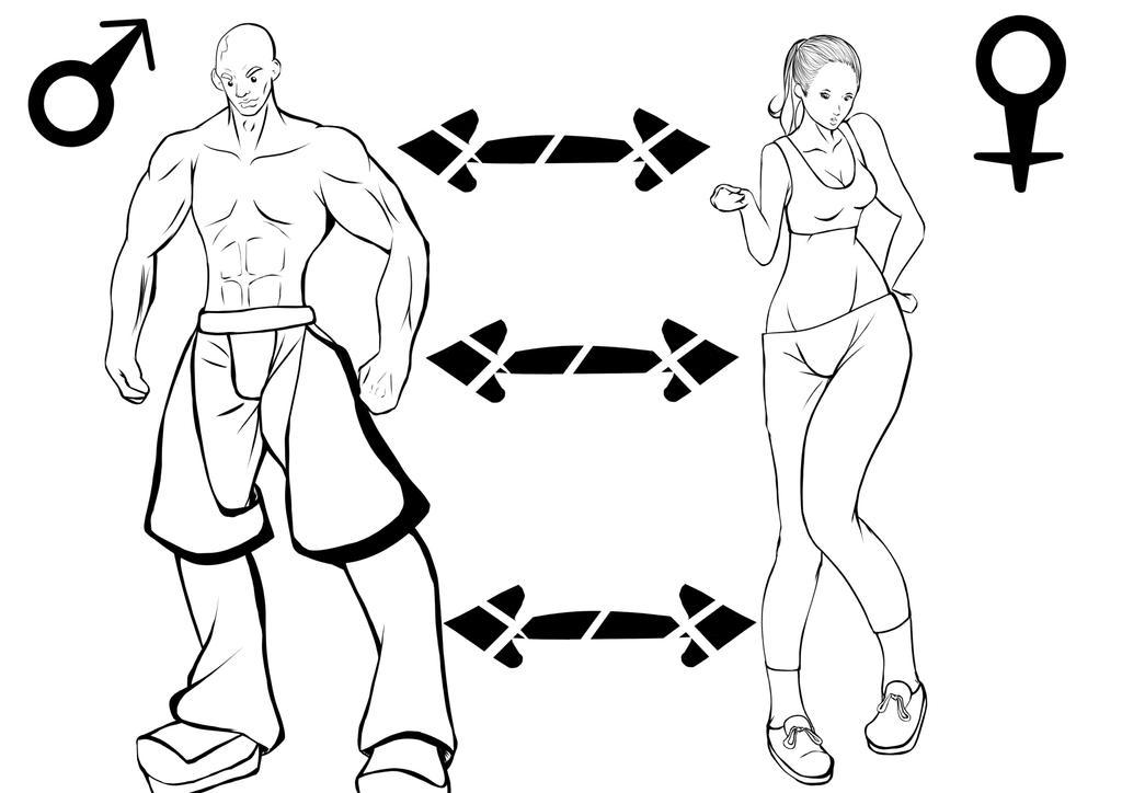 Estudio de anatomia (diferencias) by geon2510 on DeviantArt