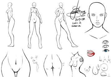 Estudio de anatomia de mujer by geon2510