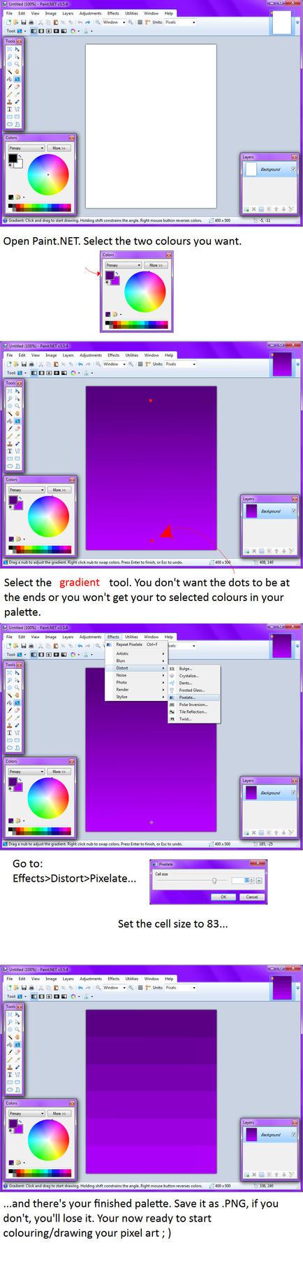 Paint.NET colour palette tut by KuroiOsoreru