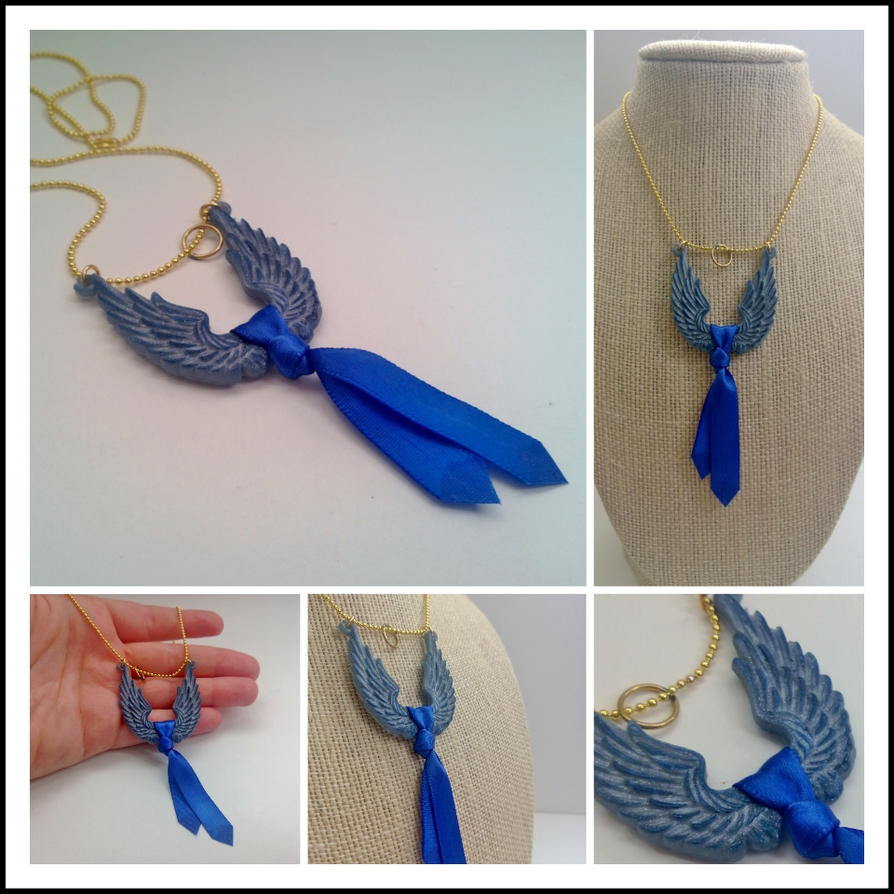 Castiels tie wings and halo a necklace by nasuoni on deviantart castiels tie wings and halo a necklace by nasuoni ccuart Gallery