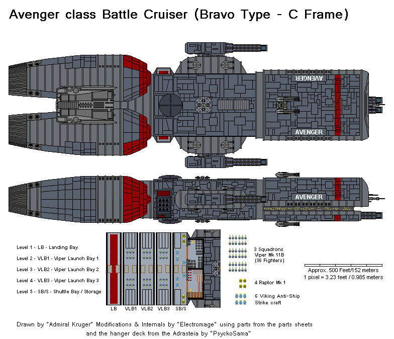Avenger Battle Cruiser by The-Electromage