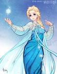 Elsa - Korean traditional dress (Hanbok)