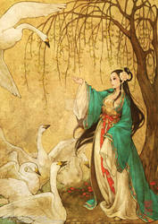 The Swan Prince in Hanfu by theobsidian