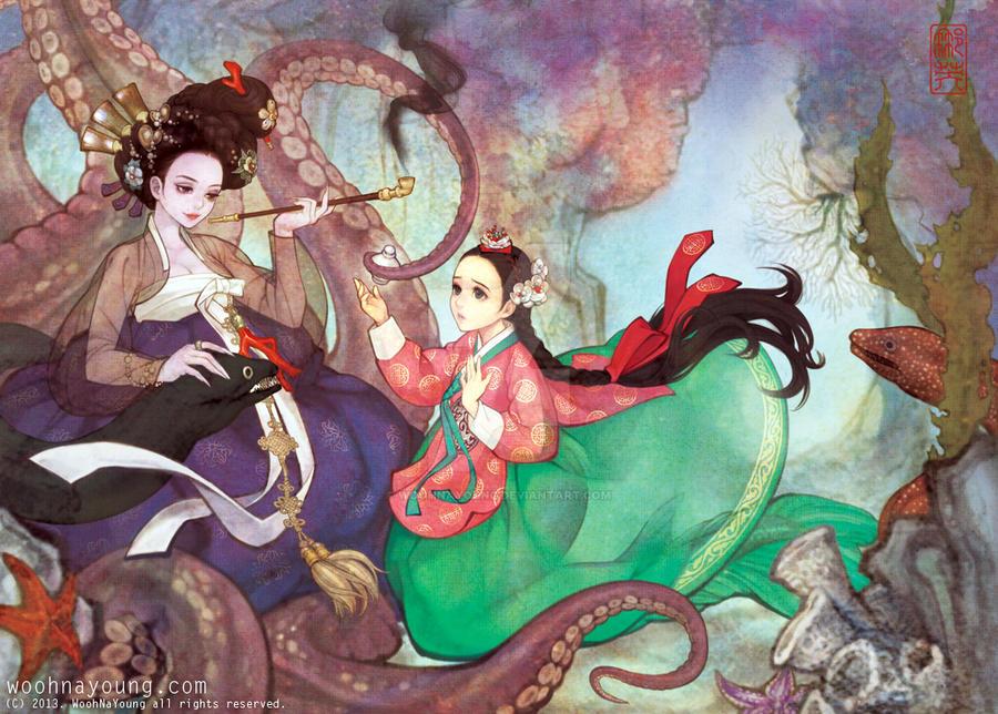 The Little Mermaid - Korean traditional dress