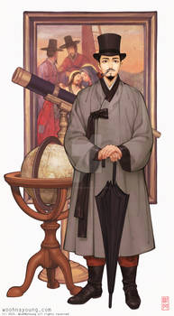 Korean Gentleman With Silk Hat