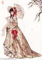 Korean style Floral Pleated Skirt