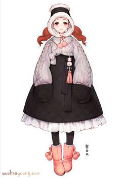 Hanbok cardigan chima for winter