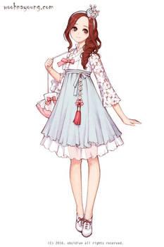 Cherry blossom hanbok