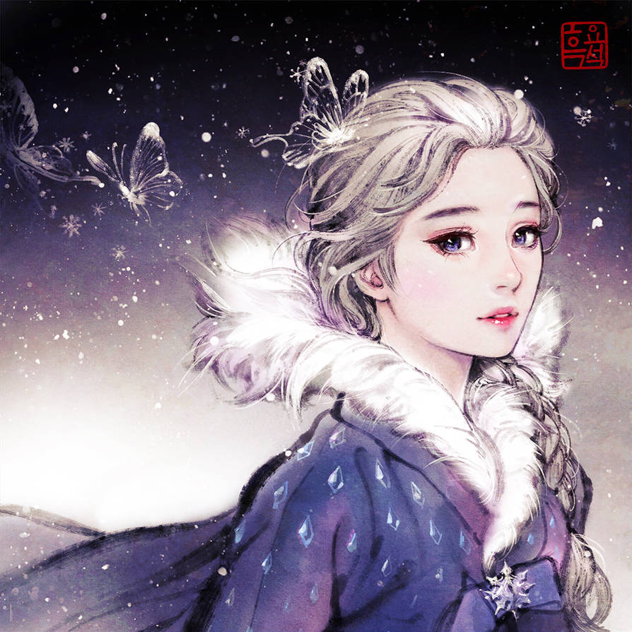 Elsa the snow Queen by woohnayoung