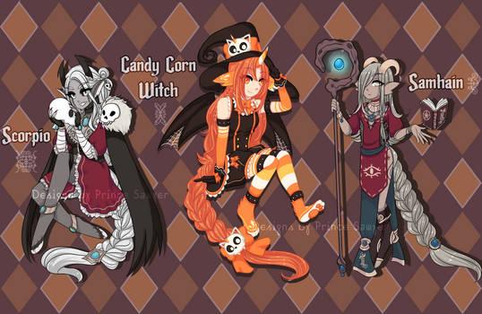 [CLOSED | OTA] Halloween Zodai Adopts by princesawyer