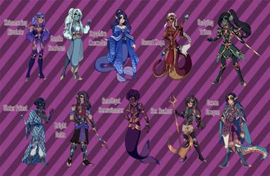 (reduced) [Open 3/7] Fantasy Aquatic Adopts 02 by princesawyer