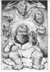 Godzilla Trophy Wall