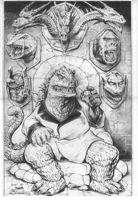 Godzilla Trophy Wall by rattlesnapper