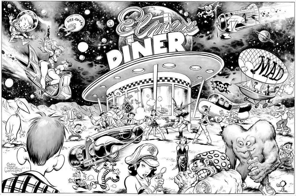 Elmer's Diner by rattlesnapper
