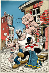 Popeye CLASSICS Steve Mannion Variant issue 30