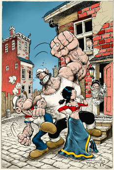 Popeye CLASSICS Steve Mannion Variant issue 30