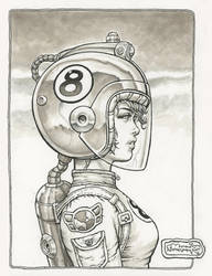 Space Girl on ebay by rattlesnapper