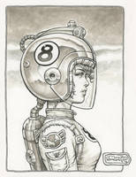 Space Girl on ebay by rattlesnapper