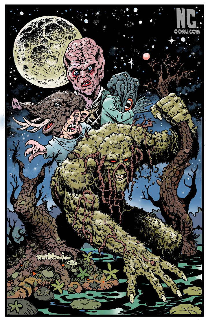 Nccc RETURN OF SWAMP THING PROMO POSTER by rattlesnapper
