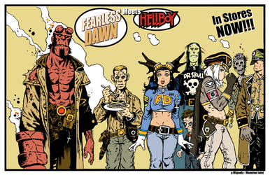 Fearless Dawn meets HELLBOY in stores