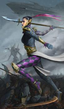 Harlequin 40k warhammer fan art