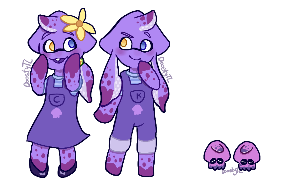 Indigo's Little Siblings by DustyToonLink