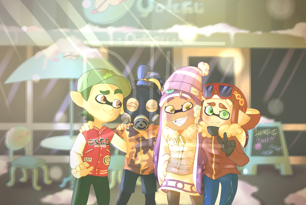 CMN Cafe Squids- Ultrapyre by DustyToonLink