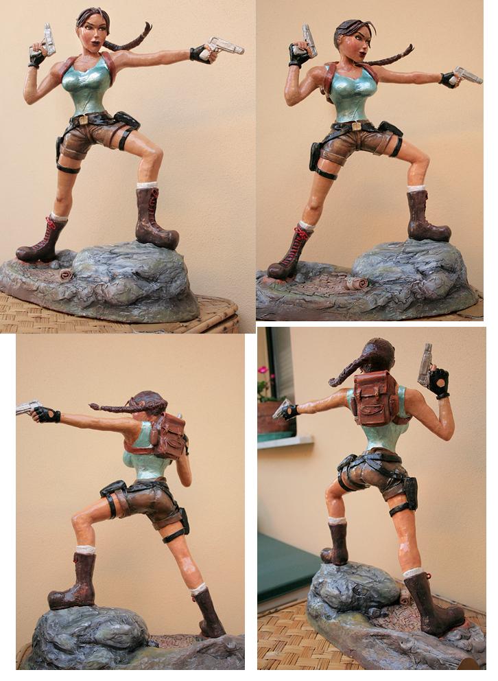 Lara Croft statue - WIP 03 by Daelyth