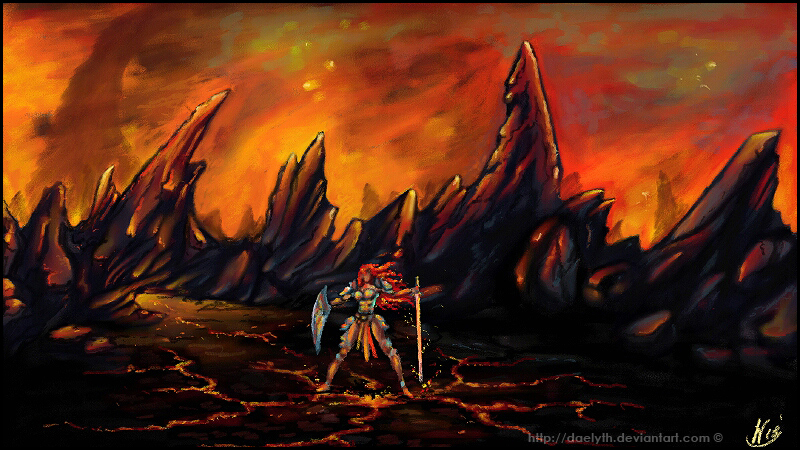Fire and iron mountains by Daelyth
