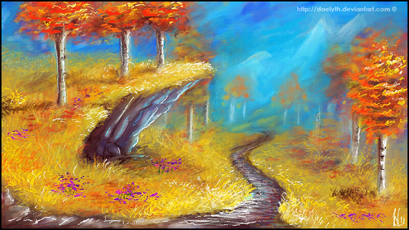 Autumn in the mountains by Daelyth