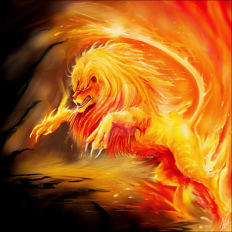 Fire Lion by Daelyth on DeviantArt