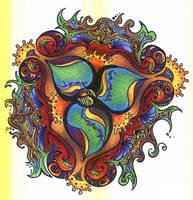 psychedelic flower by DarkKnightsGoddess