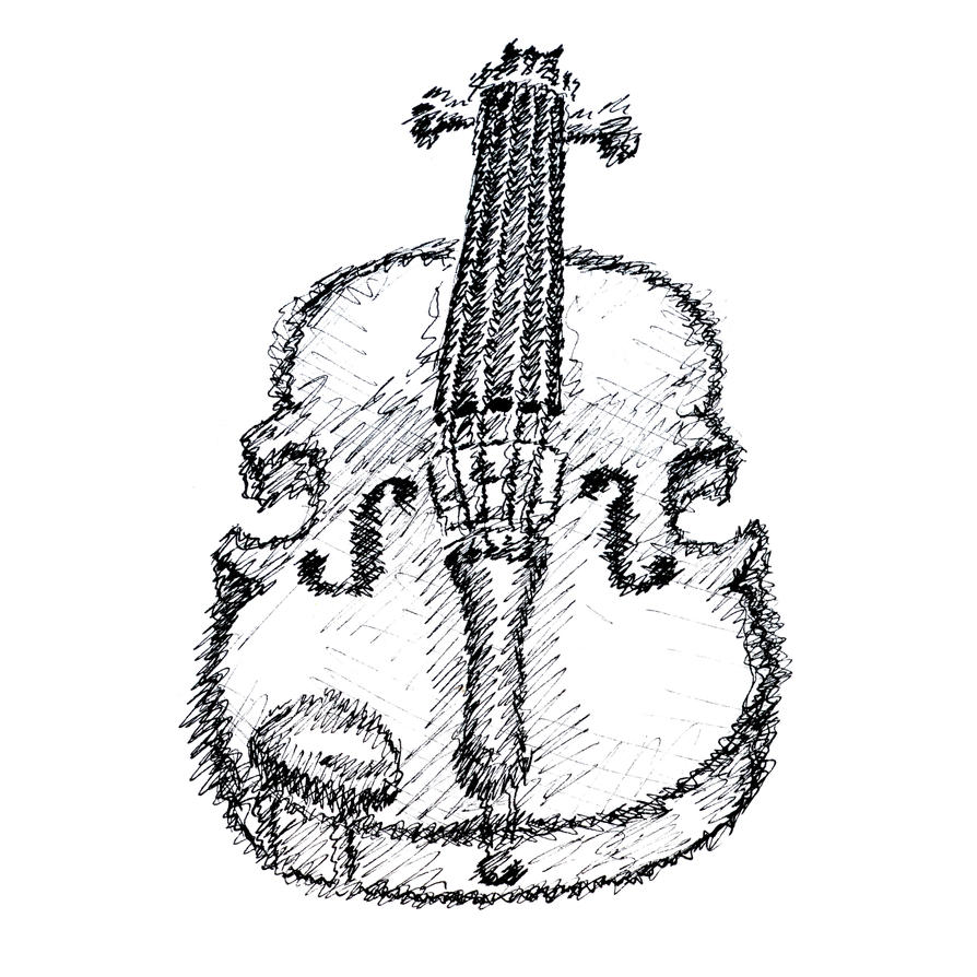 Sketchy Violin Sketch by GraphicFoundry