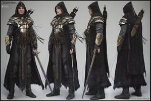 Breton Knight - Full body production render by Baldasseroni