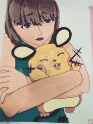 Dedenne and my oc