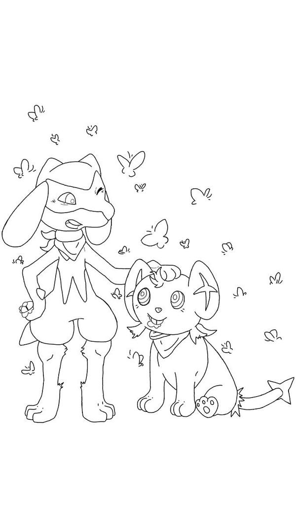 riolu and shinx