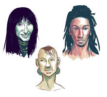 Face Sketches 00 by lunajile