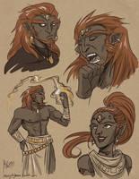 More Ganondorf plus Nabooru by lunajile