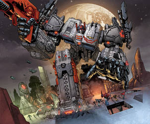 SDCC Metroplex Box art by romulofajardojr