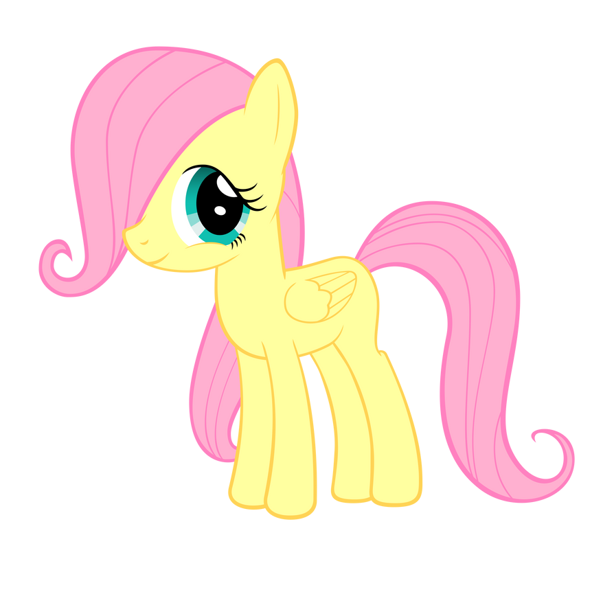Filly Fluttershy Vector by ABluSkittle