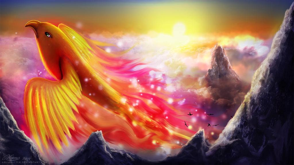 Sunset Phoenix by ABluSkittle